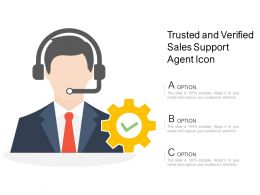 Trusted And Verified Sales Support Agent Icon