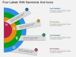 ts Four Labels With Semicircle And Icons Flat Powerpoint Design