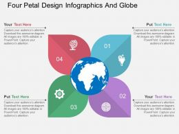 tt Four Petal Design Infographics And Globe Flat Powerpoint Design