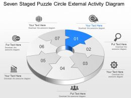 Tt Seven Staged Puzzle Circle External Activity Diagram Powerpoint Template Slide
