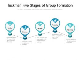 Tuckman Five Stages Of Group Formation