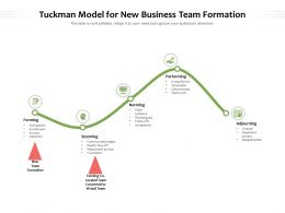 Tuckman Model For New Business Team Formation