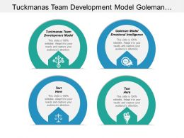 Tuckmanas Team Development Model Goleman Model Emotional Intelligence Cpb