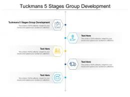 Tuckmans 5 Stages Group Development Ppt Powerpoint Presentation Portfolio Picture Cpb