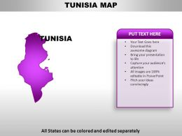 Tunisia Country Powerpoint Maps