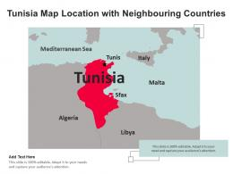 Tunisia Map Location With Neighbouring Countries