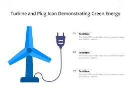 Turbine And Plug Icon Demonstrating Green Energy