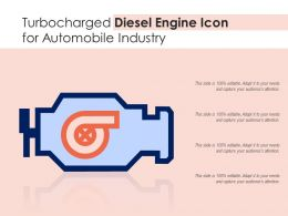 Turbocharged Diesel Engine Icon For Automobile Industry