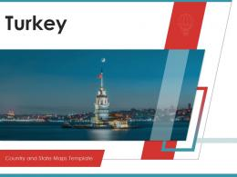Turkey Country And State Maps Powerpoint Template