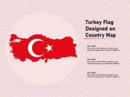Turkey Flag Designed On Country Map