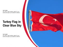 Turkey Flag In Clear Blue Sky