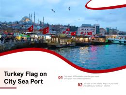 Turkey Flag On City Sea Port