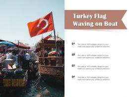 Turkey Flag Waving On Boat