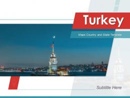 Turkey Maps Country And State Powerpoint Template