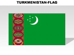 Turkmenistan Country Powerpoint Flags