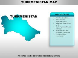 Turkmenistan Country Powerpoint Maps