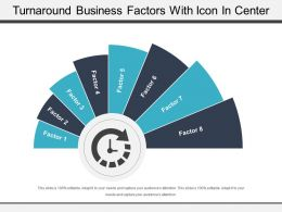 Turnaround Business Factors With Icon In Center