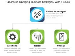 Turnaround Diverging Business Strategies With 3 Boxes