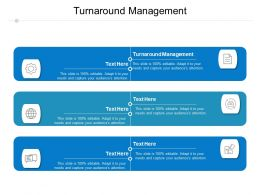 Turnaround Management Ppt Powerpoint Presentation Infographic Template Ideas Cpb