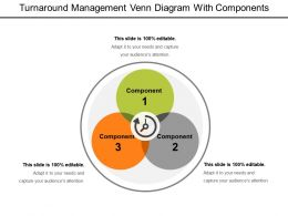 Turnaround Management Venn Diagram With Components