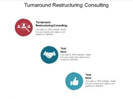 Turnaround Restructuring Consulting Ppt Powerpoint Presentation Pictures Model Cpb
