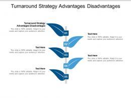 Turnaround Strategy Advantages Disadvantages Ppt Powerpoint Presentation Ideas Slide Portrait Cpb