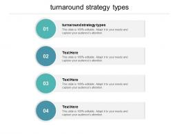 Turnaround Strategy Types Ppt Powerpoint Presentation Pictures Summary Cpb