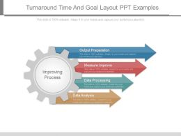 Turnaround Time And Goal Layout Ppt Examples