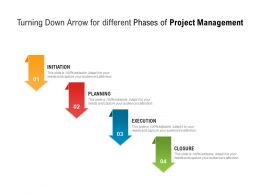 Turning Down Arrow For Different Phases Of Project Management