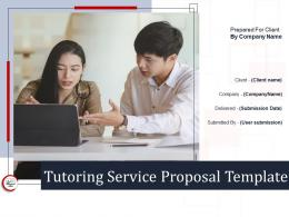 Tutoring Service Proposal Template Powerpoint Presentation Slides
