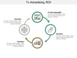 TV Advertising ROI Ppt Powerpoint Presentation Visual Aids Styles Cpb