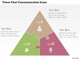 Tweet Chat Communication Icons Flat Powerpoint Design