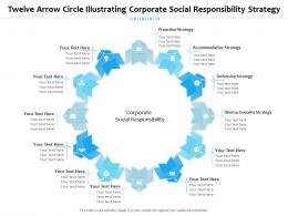 Twelve Arrow Circle Illustrating Corporate Social Responsibility Strategy