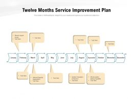 Twelve Months Service Improvement Plan