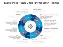 Twelve Piece Puzzle Circle For Production Planning