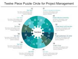 Twelve Piece Puzzle Circle For Project Management