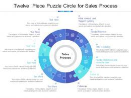 Twelve Piece Puzzle Circle For Sales Process