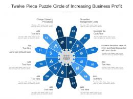 Twelve Piece Puzzle Circle Of Increasing Business Profit