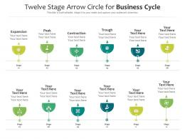 Twelve Stage Arrow Circle For Business Cycle