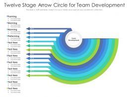 Twelve Stage Arrow Circle For Team Development
