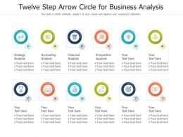 Twelve Step Arrow Circle For Business Analysis