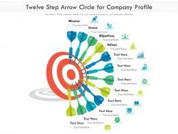 Twelve Step Arrow Circle For Company Profile
