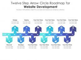 Twelve Step Arrow Circle Roadmap For Website Development