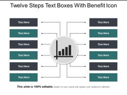 Twelve Steps Text Boxes With Benefit Icon