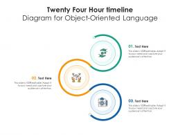 Twenty Four Hour Timeline Diagram For Object Oriented Language Infographic Template
