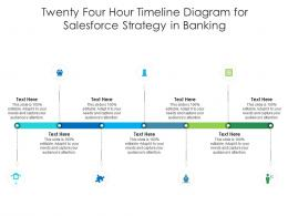 Twenty Four Hour Timeline Diagram For Salesforce Strategy In Banking Infographic Template