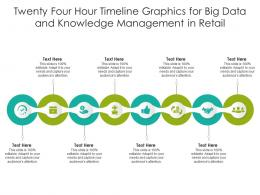Twenty Four Hour Timeline Graphics For Big Data And Knowledge Management In Retail Infographic Template
