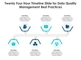 Twenty Four Hour Timeline Slide For Data Quality Management Best Practices Infographic Template