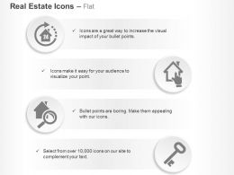 Twenty Four Hours Home Security Solutions Selection Searching Key Of House Ppt Icons Graphics