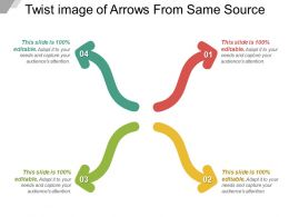 Twist Image Of Arrows From Same Source